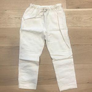 Zara White Linen Pants